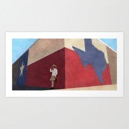 The White Hat Texan - Texas Mural - Better Call Saul Art Print