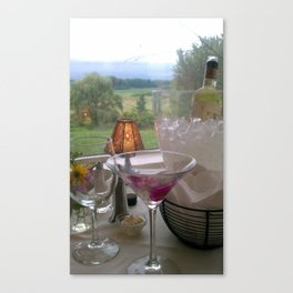 cocktails with a view Canvas Print