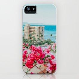 Hawaiian Bougainvillea Florals, Ka'anapali Beach Club, Maui, Hawaii iPhone Case