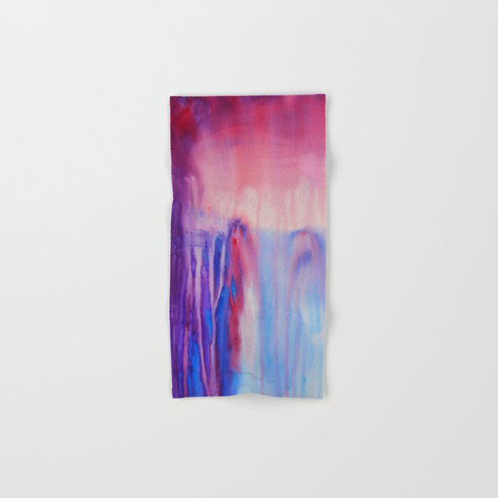 Waterfall, abstract watercolor Hand & Bath Towel
