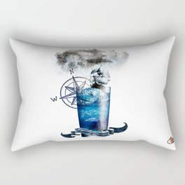 Tempestade num Copo de água - Storm in a glass of water Rectangular Pillow