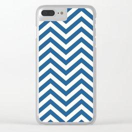 Chevron Blue  -  Pattern -  01 Mix & Match Clear iPhone Case