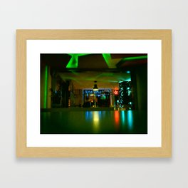 GREEN LIGHTS Framed Art Print