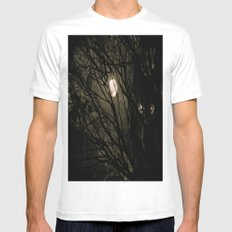 It's a full moon, so what? White MEDIUM Mens Fitted Tee