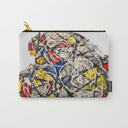 Primary Flowers Carry-All Pouch