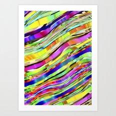Layered Rainbow Art Print