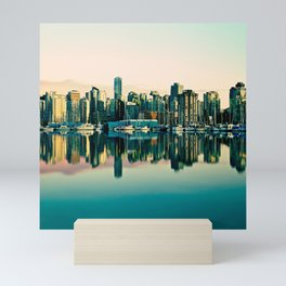 Vancouver Coal Harbor Sunset Cityscape  Mini Art Print