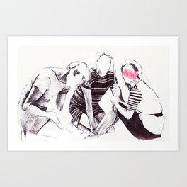 Trio on the shore Art Print