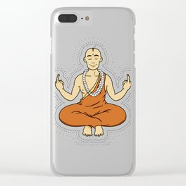Spiritual peace, unfuck the world ;) Clear iPhone Case