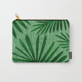 Emerald Retro Nature Print Carry-All Pouch