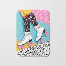 Steeze - 80's memphis rollerskating rad neon trendy art gifts throwback retro vibes Bath Mat