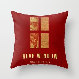 REAR WINDOW - Hitchcok Poster Throw Pillow