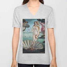 The Birth of Venus, Sandro Botticelli Unisex V-Neck