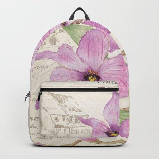 Macro Flower #13 Backpack