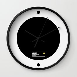 THE ABSENCE OF EVIDENCE Wall Clock