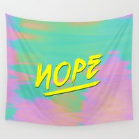 nope Wall Tapestries featuring Nope by Janja Primozic