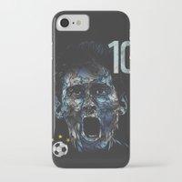 messi iPhone & iPod Cases featuring Messi by dan elijah g. fajardo