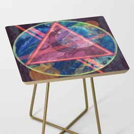 Mystic Astrology Geometry Side Table