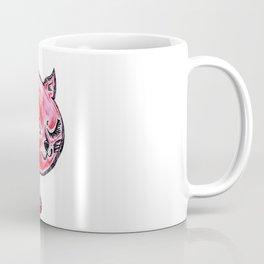 Winking Kitty Red Coffee Mug