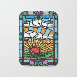 Sunrise Stained Glass Window Bath Mat