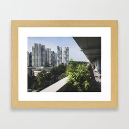 The New and The Old: Singapore Living. Framed Art Print