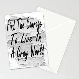 Gray World Stationery Cards