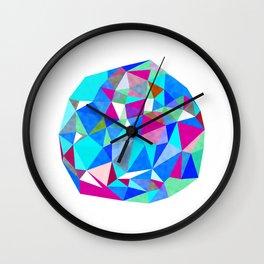 Triangle Ball : Blue Wall Clock