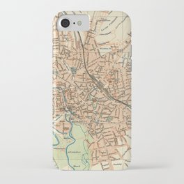 Vintage Map of Hanover Germany (1895) iPhone Case