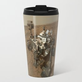NASA Curiosity Rover's Self Portrait at 'John Klein' Drilling Site in HD Travel Mug