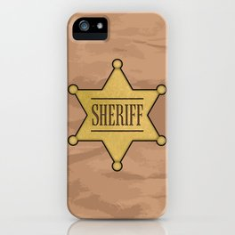 Wild West Sheriff's Badge iPhone Case