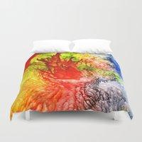medusa Duvet Covers featuring Medusa by SOPHIA