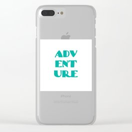 ADVENTURE Clear iPhone Case