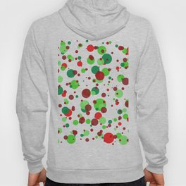 Numerous bubbles of different sizes of Christmas colors Hoody