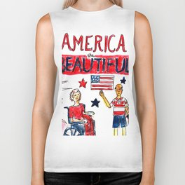 America the Beautiful Biker Tank