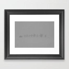 Trees in the Snow Framed Art Print