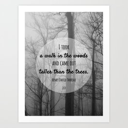 I took a walk in the woods Art Print