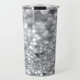 Silver Gray Lady Glitter #1 #shiny #decor #art #society6 Travel Mug