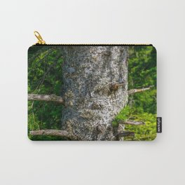 Tree Trunk with short thick Branch Stumps Carry-All Pouch