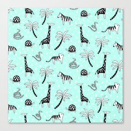 Safari Mint Canvas Print