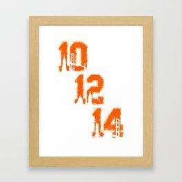 Black / Orange  Framed Art Print