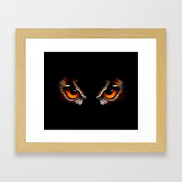 Owl Eyes - bird illustration, digital painting, animal art Framed Art Print