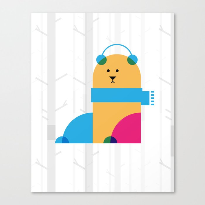 THE MISSING SCARF - Bear Canvas Print