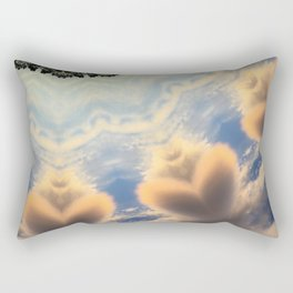 Cloud Hearts Abstract Artwork Rectangular Pillow