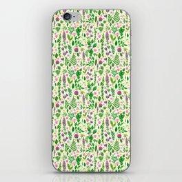 Green florals iPhone Skin
