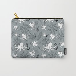Grey Scattering Octopuses Carry-All Pouch