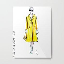 Yellow Jacket Metal Print