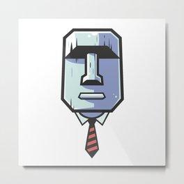 Stoic Tiki Man Metal Print
