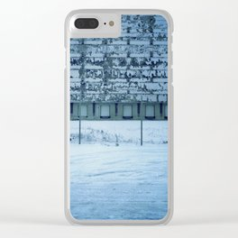 Warehouse Wall, Detroit. Clear iPhone Case
