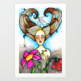 Breathe and bloom Art Print