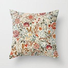 Modern poster-William Morris-Vegetable print 6. Throw Pillow
